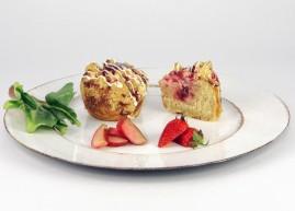 Erdbeer-Rhabarber Cheesecake Spluffin